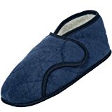 Men's Navy Edema Slipper for Swollen Feet